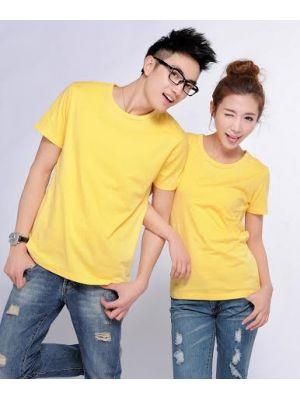 Áo thun trơn cặp (Màu vàng)